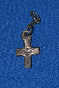 A super Medieval Byzantine Silver Crucifix [Cross] featuring a punched Maltese Cross design. SOLD